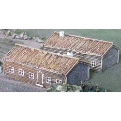 BA001 Timber Thatched House x2