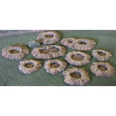 EC020 Large calibre shell craters (10) assortment may vary