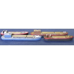 M007 European barges small and large (2 of each)