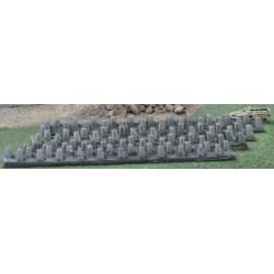 SD001 Dragon teeth double row (4 plates)