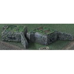B015 Uncovered V4F Ball Mount Pillbox (2) German