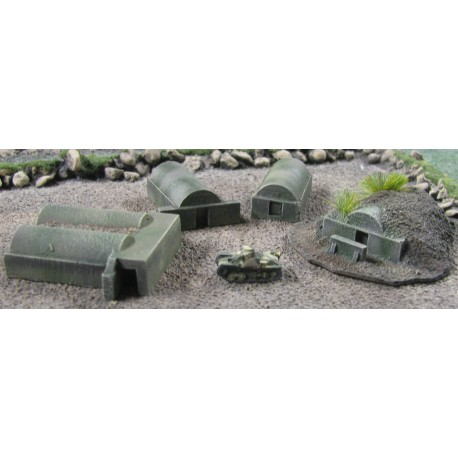 BZT007 Airfield Shelters WW2 Pacific