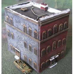 BA004 Flat top city building large