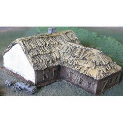 BA012 Russian thatched house large L shaped