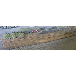 DI023 Rail yard 3 lanes and military AA section (wide gauge)