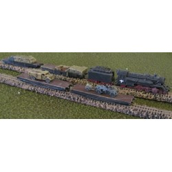 T002 German Freight Train WW2 (Flatbed)