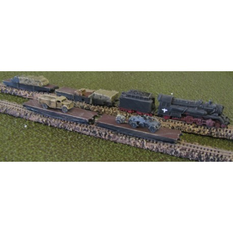 T002 German Freight Train WW2 (Flatbed)